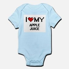I Love My Apple Juice Digital design Body Suit