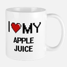 I Love My Apple Juice Digital design Mugs