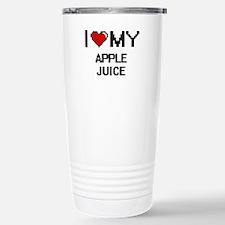I Love My Apple Juice D Stainless Steel Travel Mug