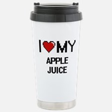 I Love My Apple Juice D Travel Mug
