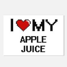 I Love My Apple Juice Dig Postcards (Package of 8)