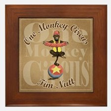 One Monkey Circus Framed Tile