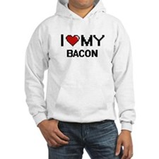 I Love My Bacon Digital design Hoodie