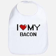 I Love My Bacon Digital design Bib