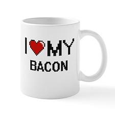 I Love My Bacon Digital design Mugs