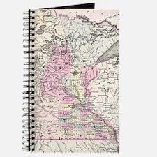 Vintage Map of Minnesota (1855) Journal