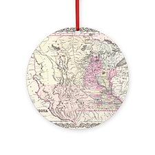 Vintage Map of Minnesota (1855) Round Ornament