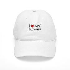 I Love My Blowfish Digital design Baseball Cap