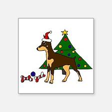 Funny Christmas Doberman Pinscher Sticker