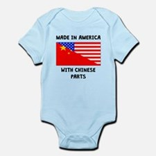 Made In American With Chinese Parts Body Suit