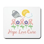 Flower Pink Ribbon Mousepad