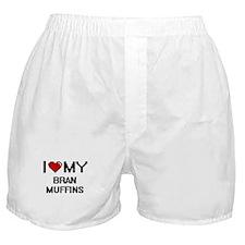 I Love My Bran Muffins Digital design Boxer Shorts