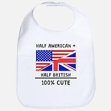 Half British 100% Cute Bib