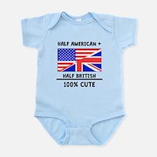 Half British 100% Cute Body Suit