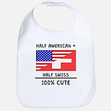 Half Swiss 100% Cute Bib