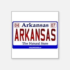 "Cute Arkansas bumper Square Sticker 3"" x 3"""