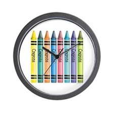 Colorful Crayons Wall Clock
