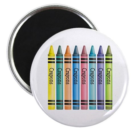 "Colorful Crayons 2.25"" Magnet (100 pack)"