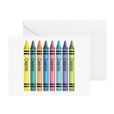 Colorful Crayons Greeting Cards (Pk of 10)