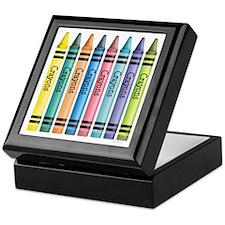 Colorful Crayons Keepsake Box