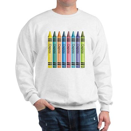 Colorful Crayons Sweatshirt