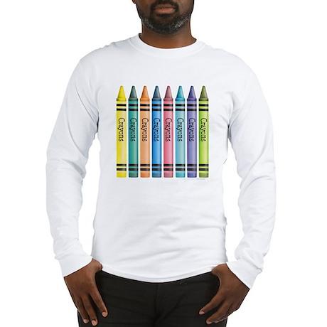 Colorful Crayons Long Sleeve T-Shirt