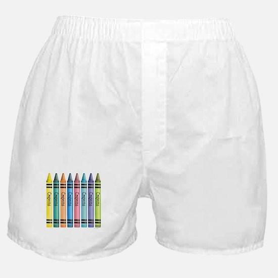 Colorful Crayons Boxer Shorts