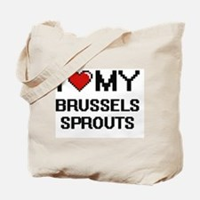 I Love My Brussels Sprouts Digital design Tote Bag