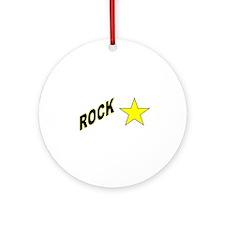 Funny Rockstar Ornament (Round)