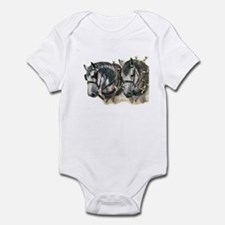 Team of percherons, Gray Infant Bodysuit