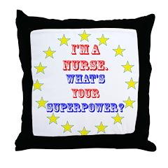 Superhero Nurse Throw Pillow