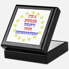 Superhero Nurse Keepsake Box