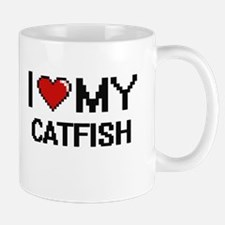 I Love My Catfish Digital design Mugs