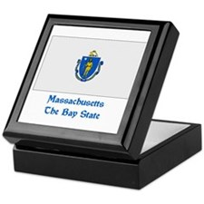 Massachusetts State Flag Keepsake Box