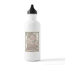 Vintage Map of Michiga Water Bottle