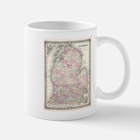 Vintage Map of Michigan (1855) Mugs