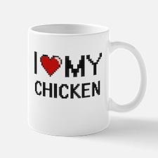 I Love My Chicken Digital design Mugs