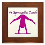 Gymnastics Framed Tile - Coach