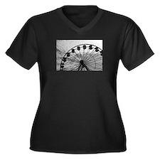 Santa Monica Women's Plus Size V-Neck Dark T-Shirt