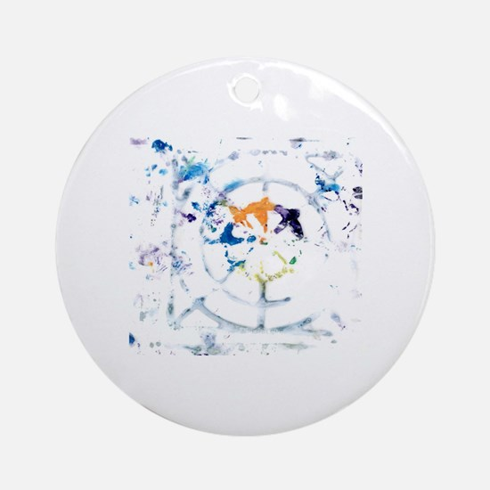 web 2 Round Ornament