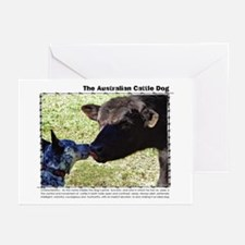 Kissing Cows Greeting Cards (Pk of 10)