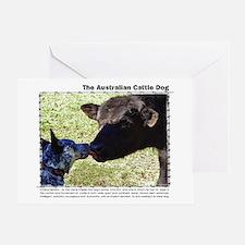 Kissing Cows Greeting Card