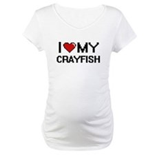 I Love My Crayfish Digital desig Shirt