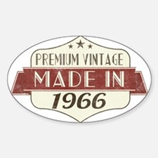 Vintage Born in 1966 50th Birthday Decal