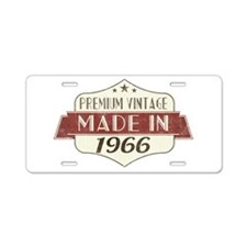 Vintage Born in 1966 50th B Aluminum License Plate