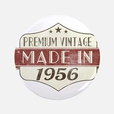 Vintage Born in 1956 60th Birthday Button