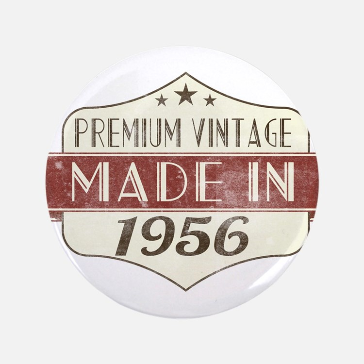 Vintage Born in 1956 60th Birthday Button