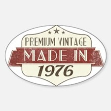 Vintage Born in 1976 40th Birthday Decal