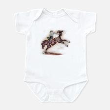 Saddle Bronc, Black Infant Bodysuit