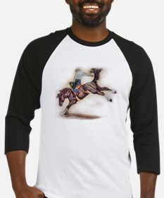 Saddle Bronc, Black Baseball Jersey